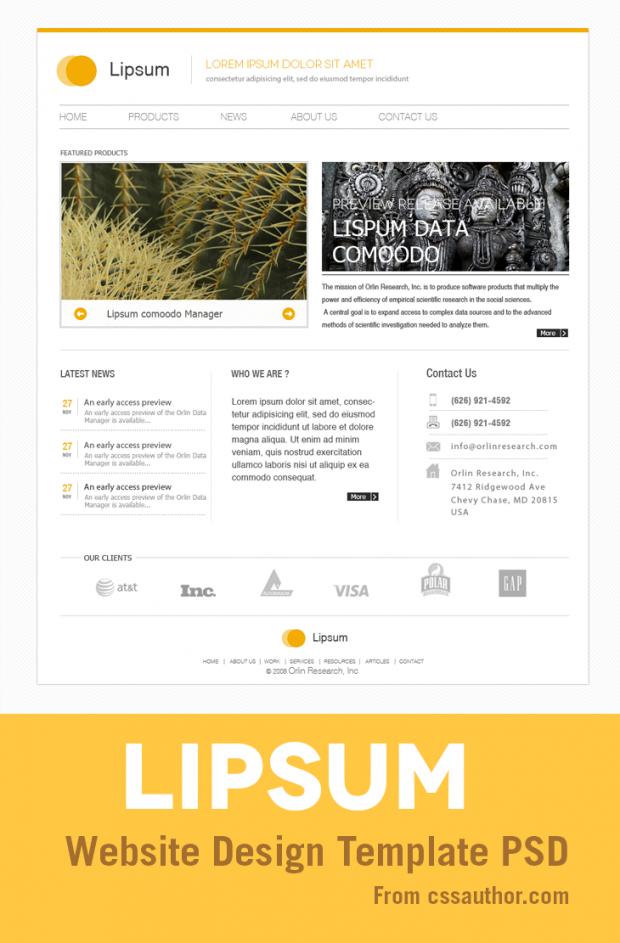 Minimal Website Design Template Free Layout Minimalist Psd Resource Simple Web
