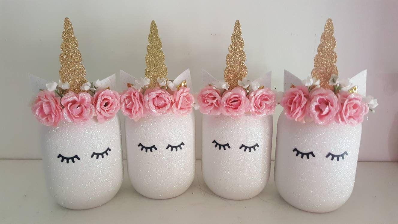 Unicorn Birthday Unicorn Mason Jars Glitter Unicorn Personalized Unicorn Gift Unicorn Gift Unicorn Centerpiece Unicorn Baby Shower