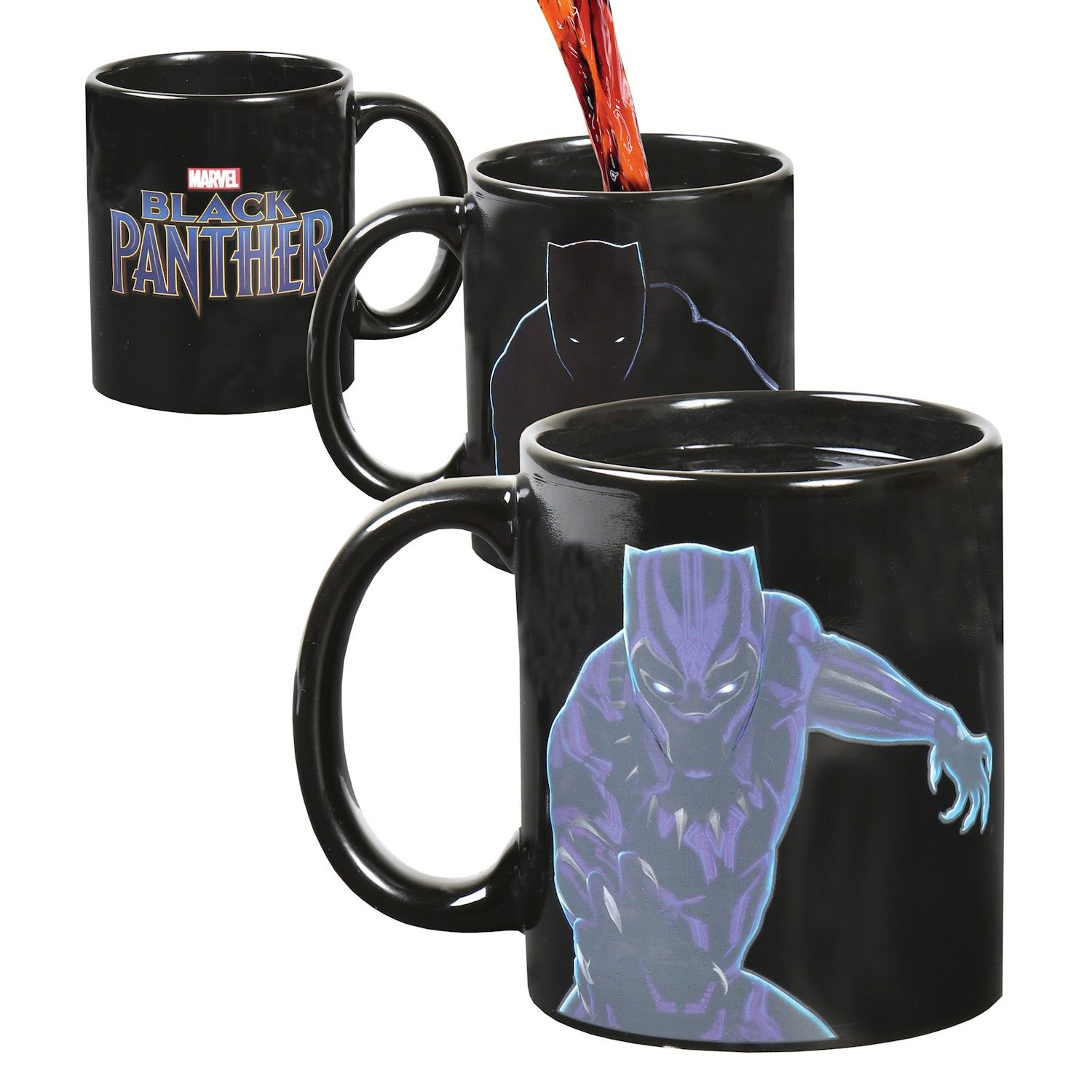 Marvel Black Panther Magic Color Changing With Heat Coffee