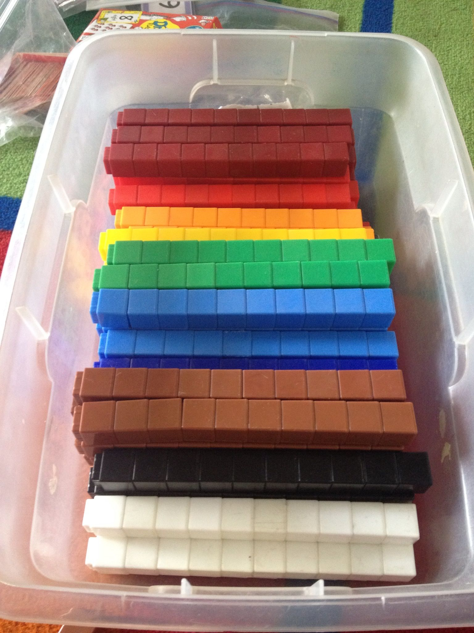 Store Unifix Cubes In Tens Have Kids Put Them Away Again