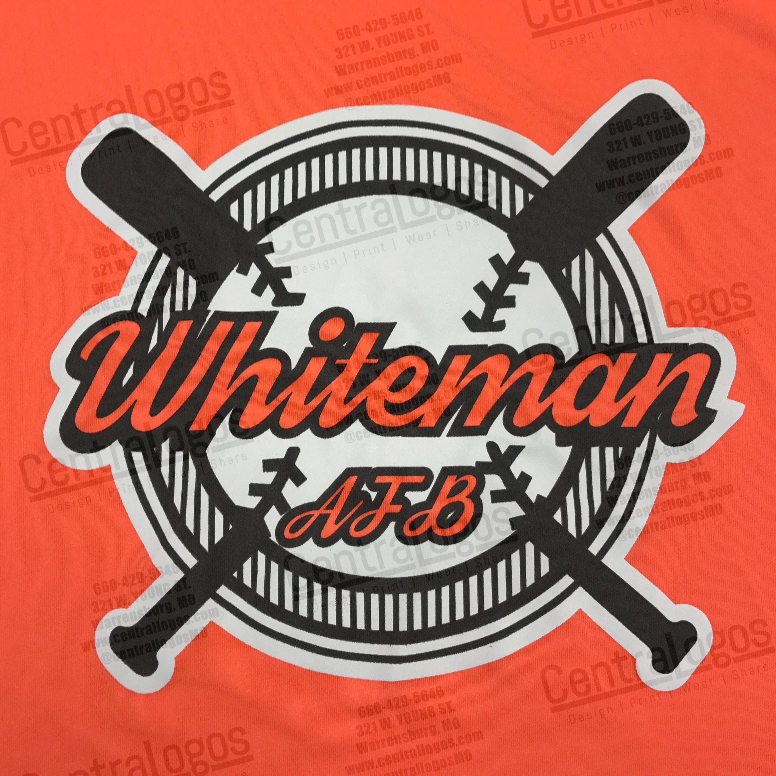 Shirts printed for Whiteman Air Force Base Softball.