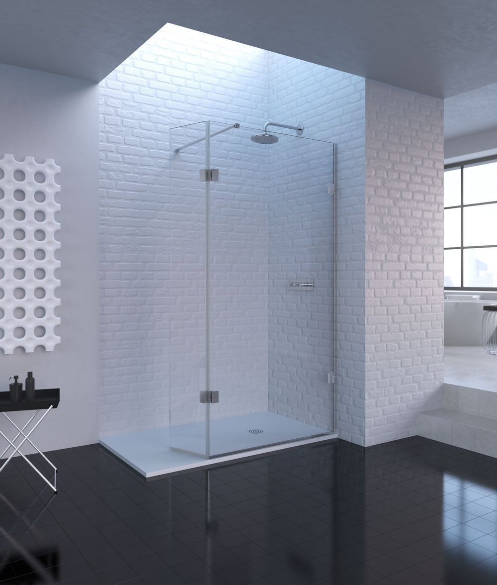 The Shower Lab Curium 19H Fixed Panel & Hinged Return Panel | Ideas ...