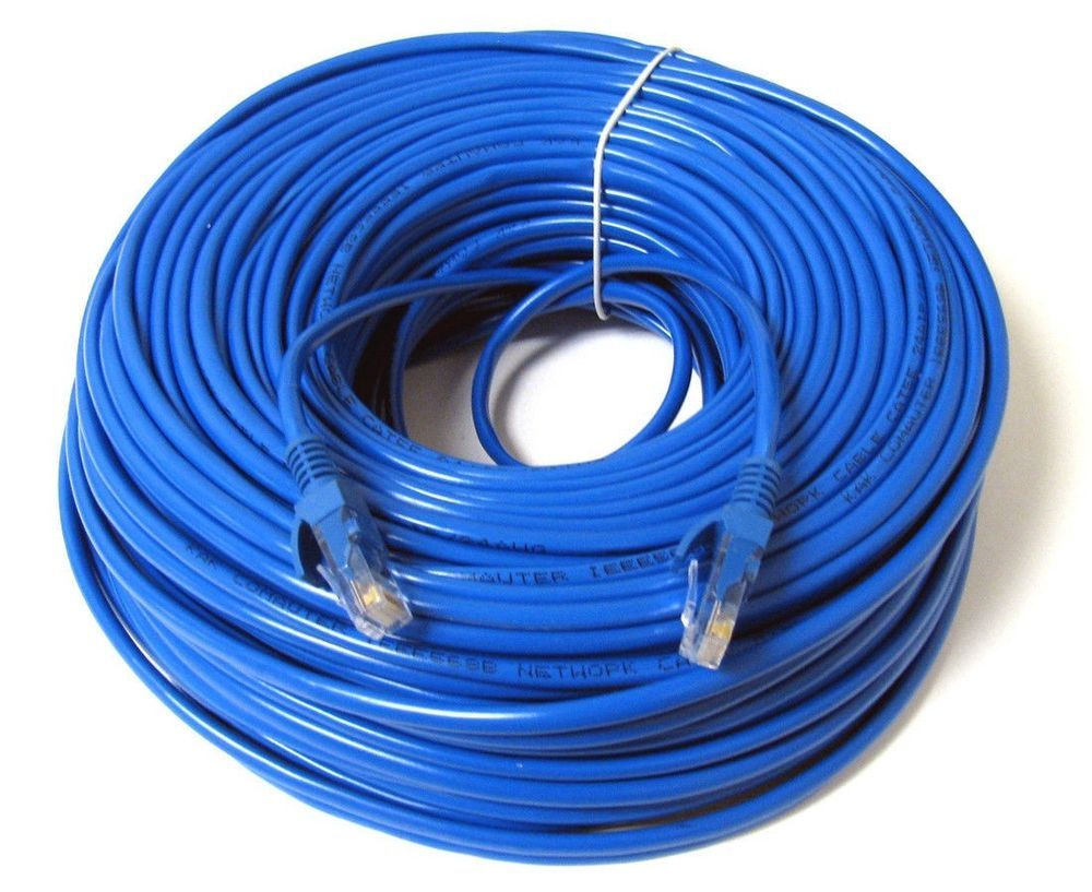 30FT 30/' FT RJ45 CAT6 CAT 6 PATCH ETHERNET LAN NETWORK BLUE CABLE