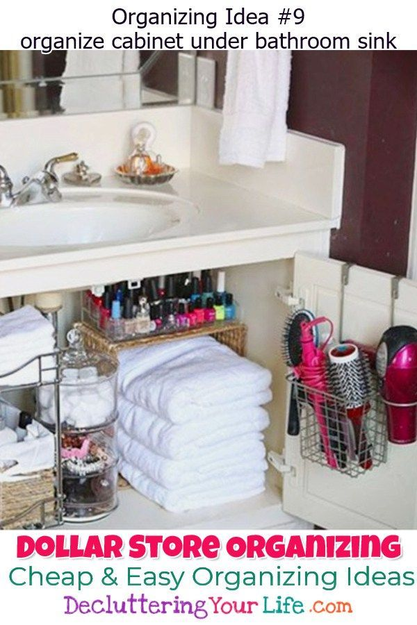Dollar Store Organizing Bathroom Organization Ideas On A