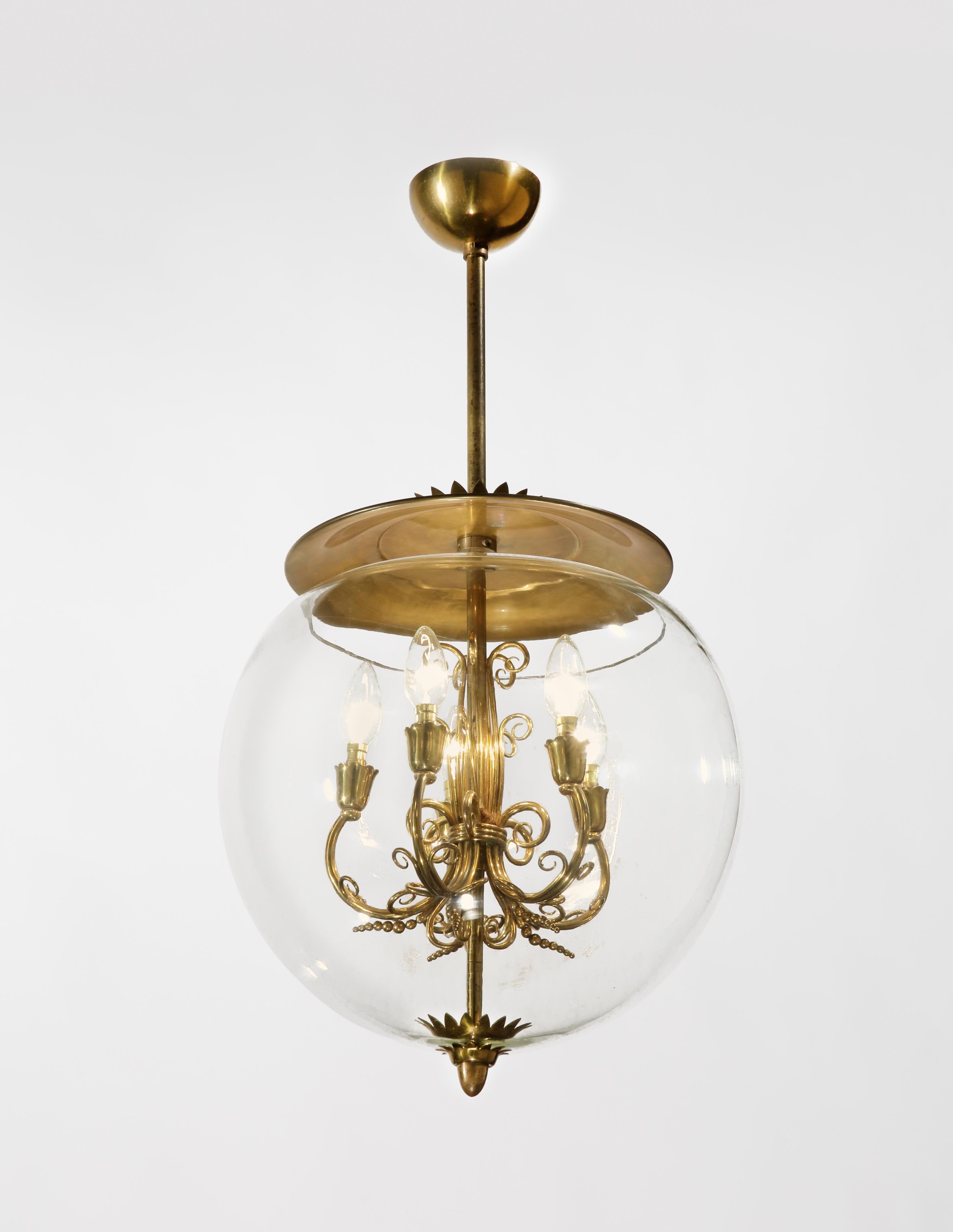 1940s italian globe chandelier rose uniacke
