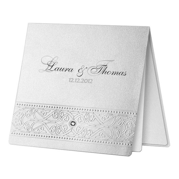 Klassische Hochzeitskarte Nr 14 Einladungskarten Papeterie