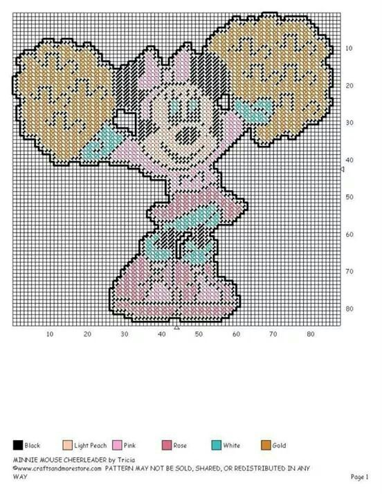 MINNIE MOUSE CHEERLEADER by TRICIA -- WALL HANGING   Baby ...