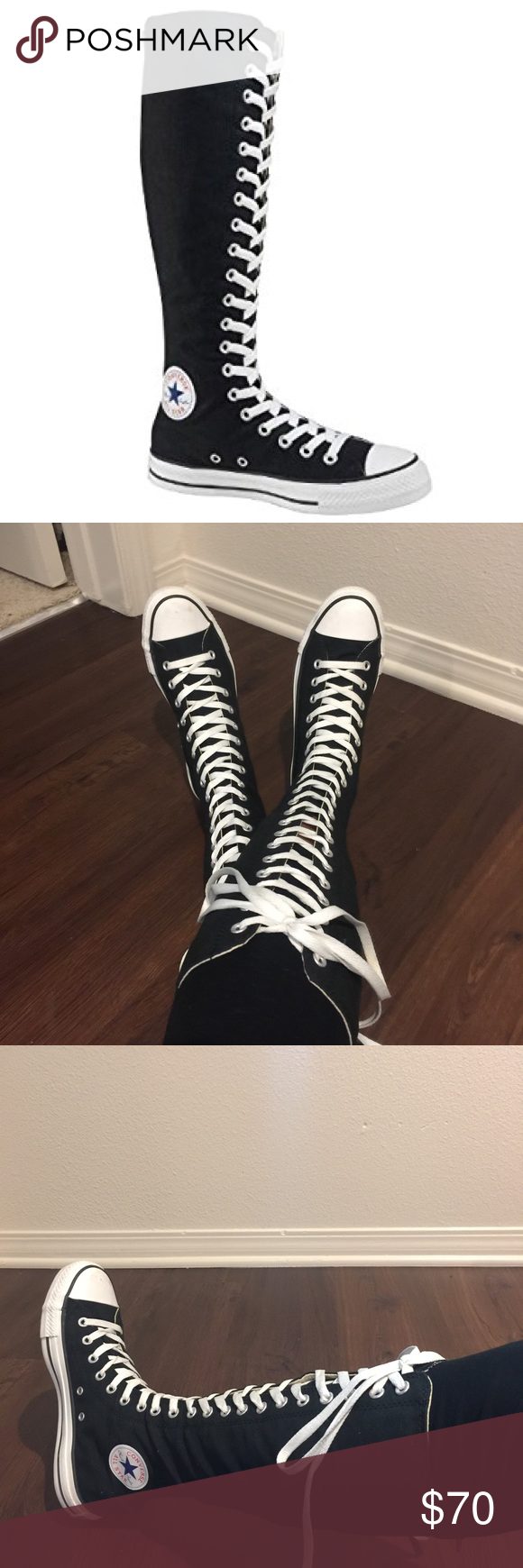 42e0f171a51c RARE Converse Chuck Taylor XX Hi Knee High Boots Double extra-high All Star  Chucks