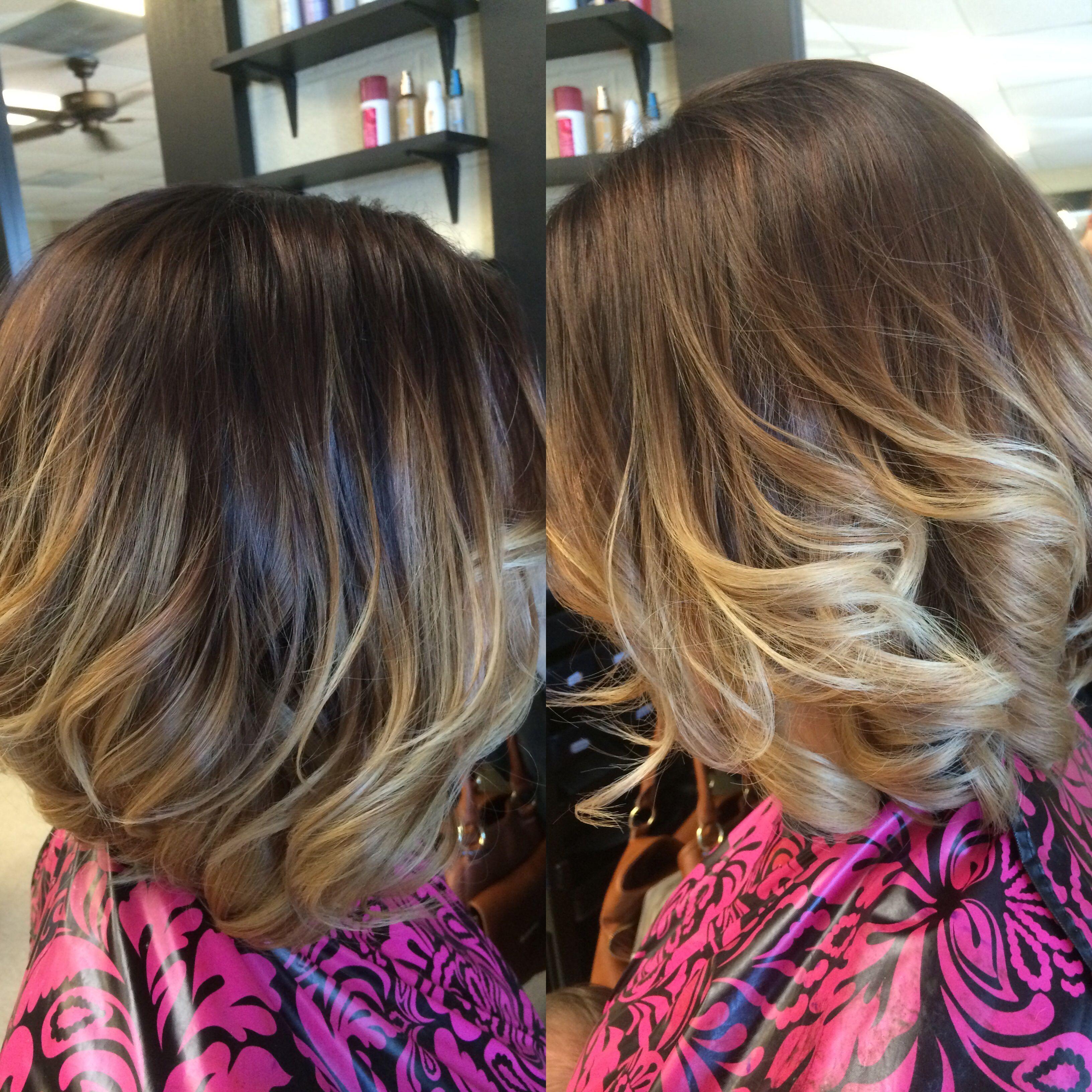 Ombre short hair ideas womenus hair balayage blonde brown hair