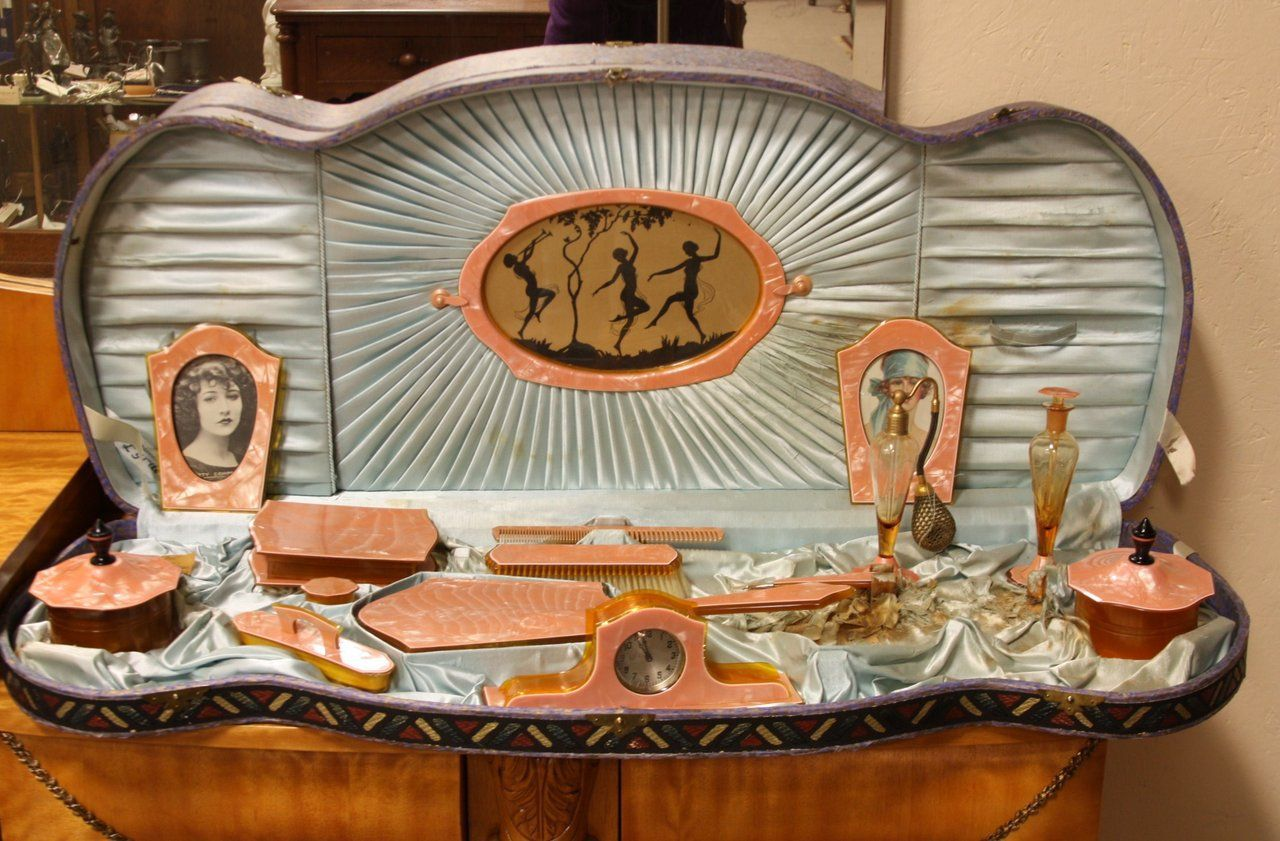 Art Deco 1930 Celluloid Vanity Or