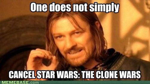 One does not simply cancel Star Wars: the clone wars