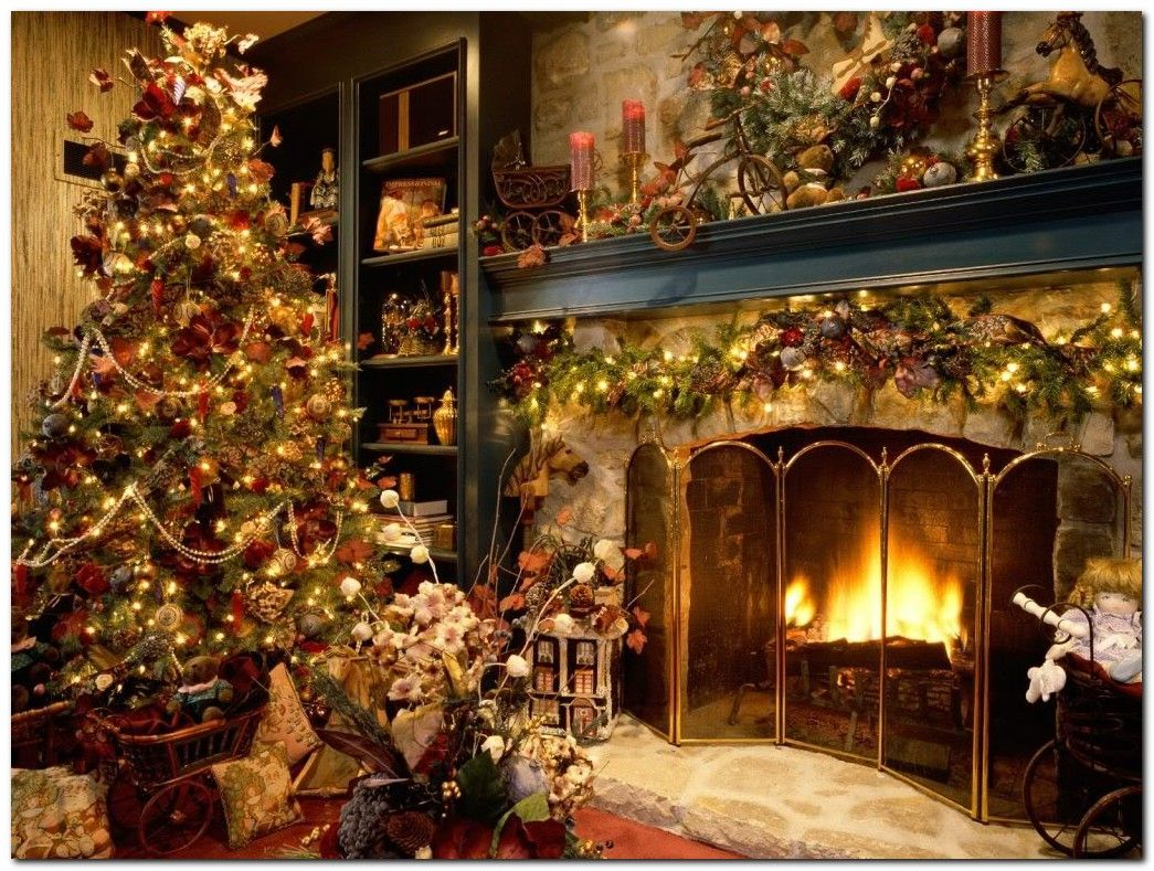 Free Christmas Screensavers Christmas Blessing Wallpapers Christmas Blessing Fre Christmas Tree And Fireplace Christmas Fireplace Beautiful Christmas Trees