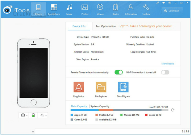 iTools Crack v4 2 5 9 Screenshot | Crack Softwares | Software, Phone