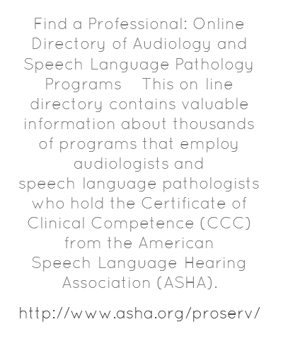 ASHA\'s Find a Professional: Online Directory of Audiology and Speech ...