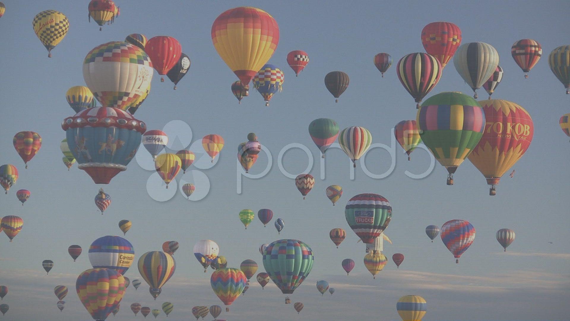 Editorial hot air balloons stock footageairhot