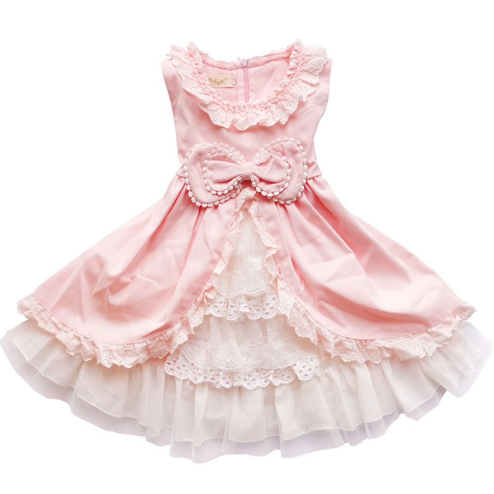 Click to buy ucuc baby girls dress new children lace princess bow