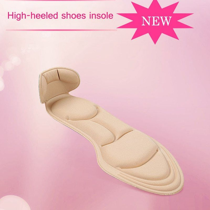 1 Pair Shoe Insole Pad Inserts Heel Post Back Breathable Anti-slip for High Heel