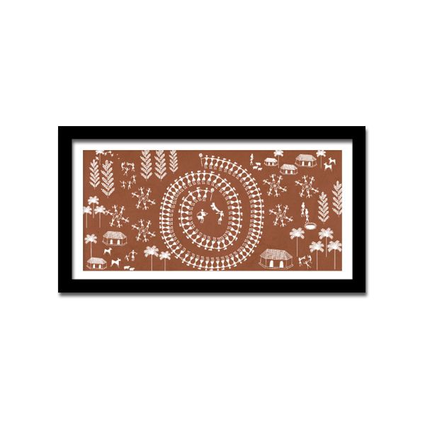 WARLI FRAME  Buy Here -http://madinindia.in/collections/wall-art/products/warli-frame MRP - Rs 1750
