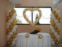 Resultado De Imagen Para Decoracion Para Bodas De Oro Wedding Balloons Wedding Balloon Decorations Valentines Balloons