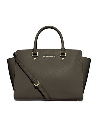 If you love me, I will own this! MICHAEL Michael Kors  Large Selma Top-Zip Satchel.