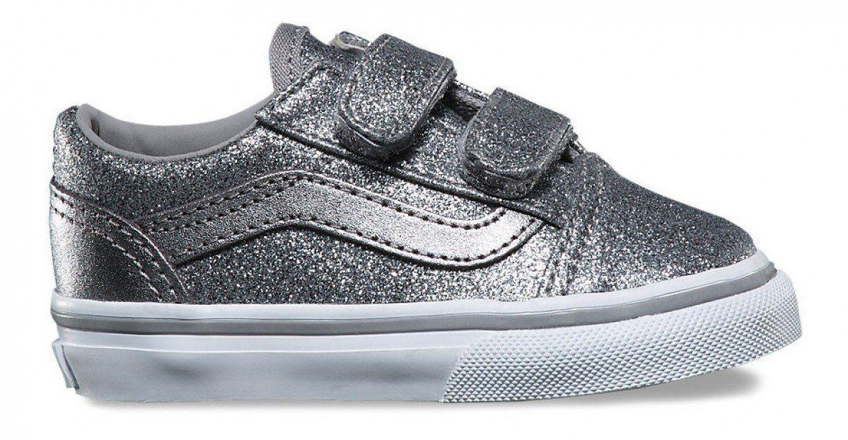 296ede45499abc Vans Toddler Old Skool V (Glitter + Metallic) Frost Grey