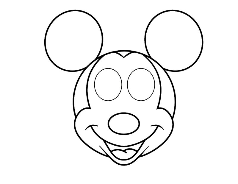 Mickey Mouse Face Mask Template