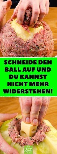 Schneide den Ball auf und du kannst nicht mehr widerstehen! Kohl und Hackfleisch verbinden sich zur deftigen Weißkohlbombe! #Rezepte #kochen #Weißkohl #Hackfleisch #Kohl #Weißkohlbombe #recettesympa