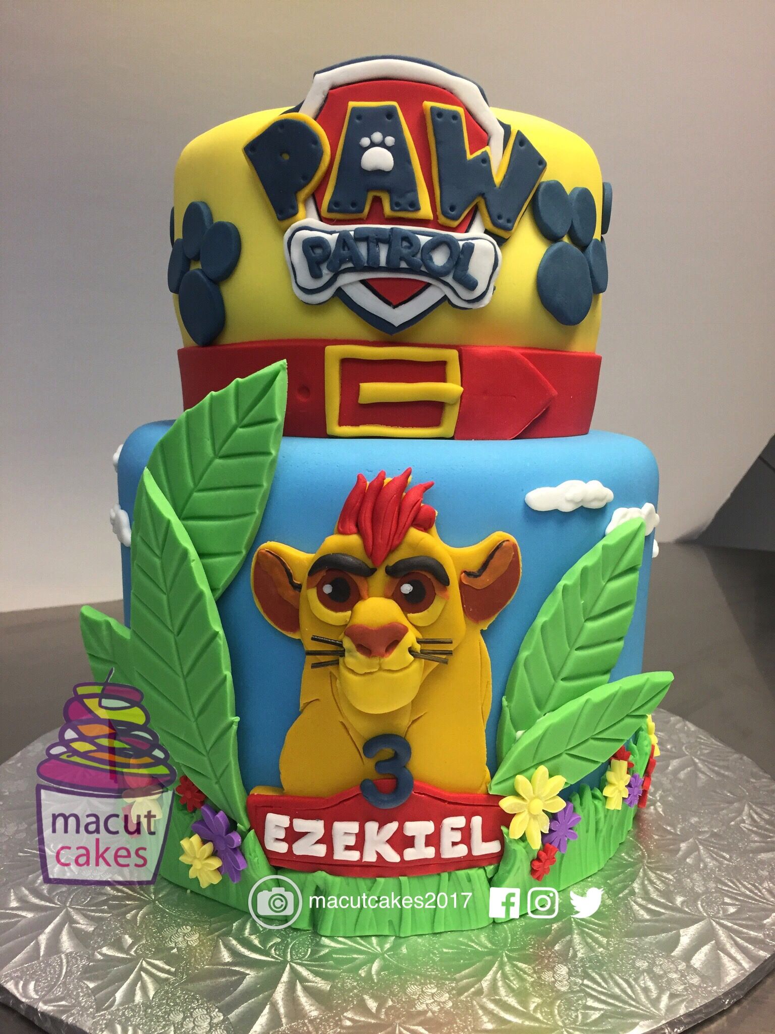 When you cant decide go with both Paw Patrol Lion Guard themed