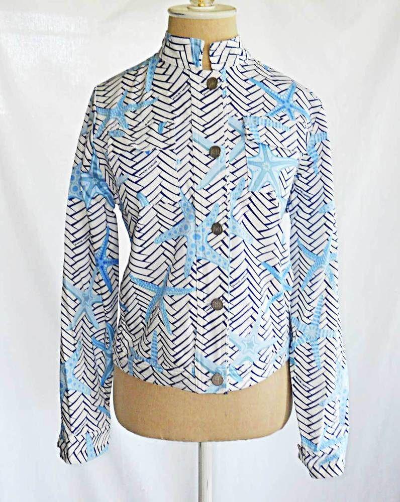 Manuel Canovas Deadstock NOS Jacket Cropped Cotton Print