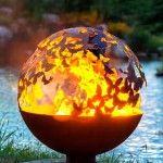 Lebensbaum Feuerstelle Kugel | Die Feuerstelle Galerie