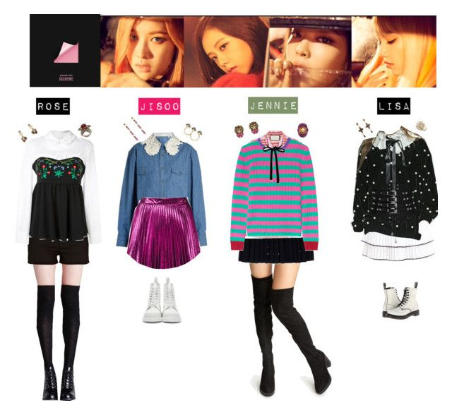 Blackpink Outfit Ideas: BLACK PINK - STAY💛💚💜💙