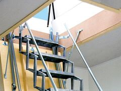 roof hatches with scissor stairs attic ladders i want one please for the home pinterest. Black Bedroom Furniture Sets. Home Design Ideas