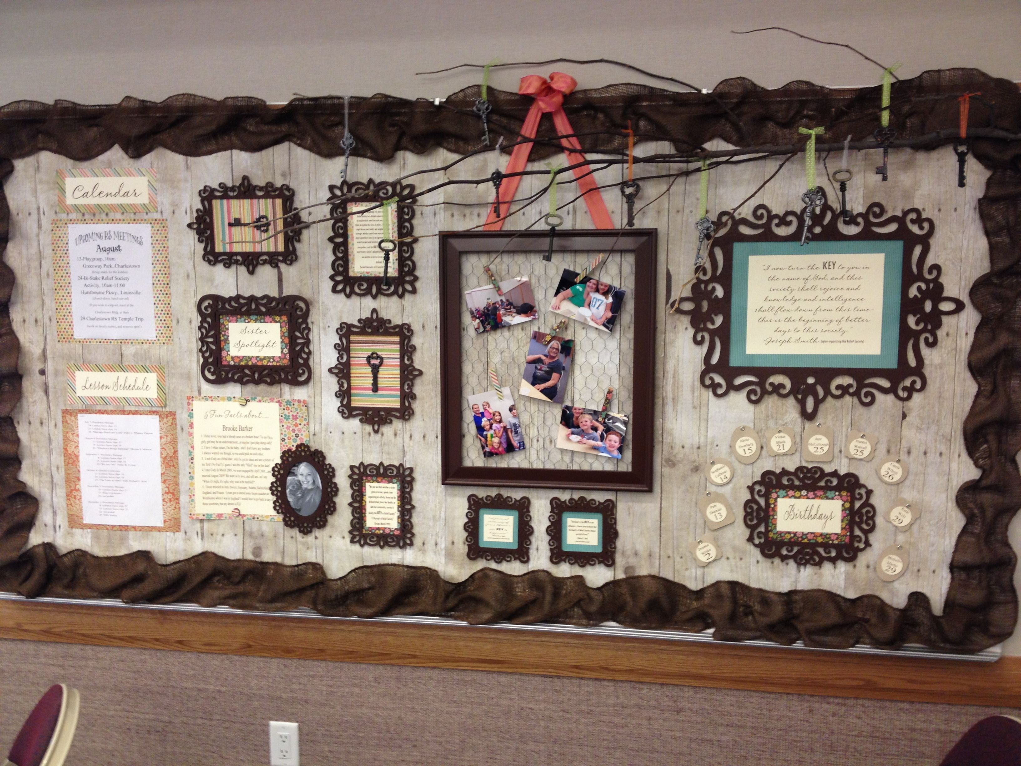 a beautiful rs bulletin board in the charlestown in ward created rh pinterest com