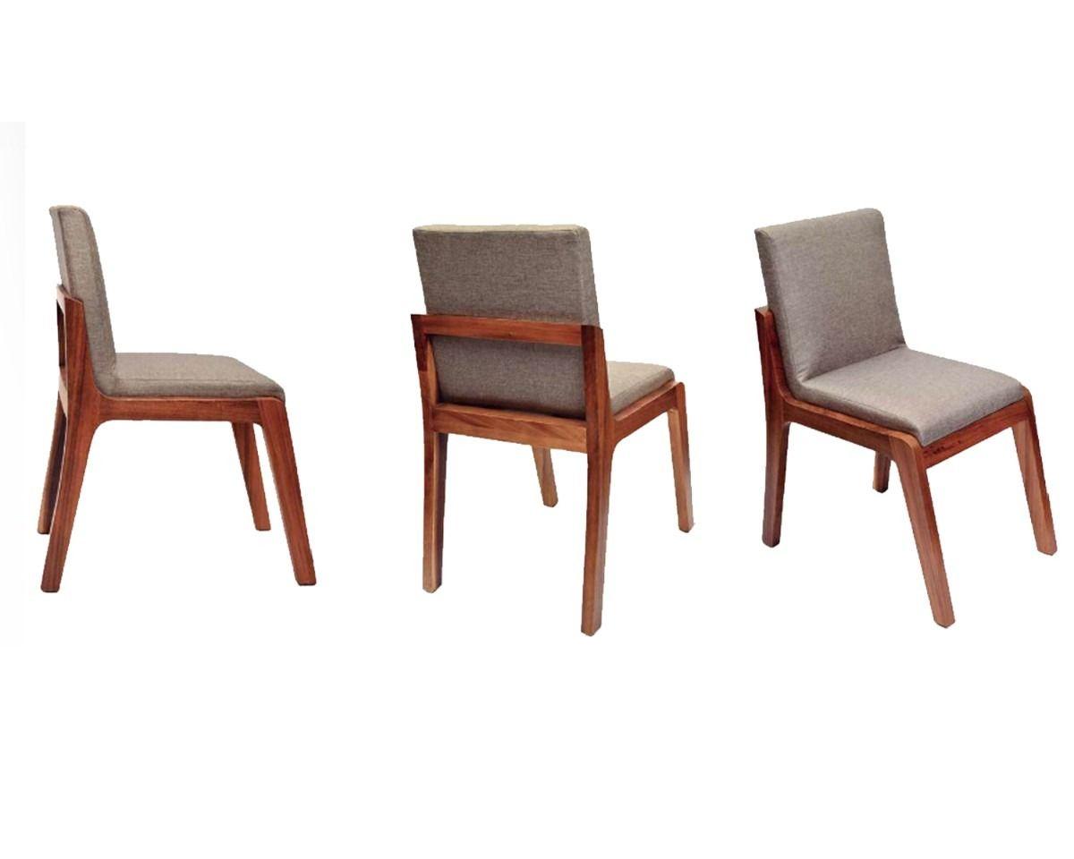 Comoda silla para comedor de madera bodega de muebles for Sillas modernas para comedor