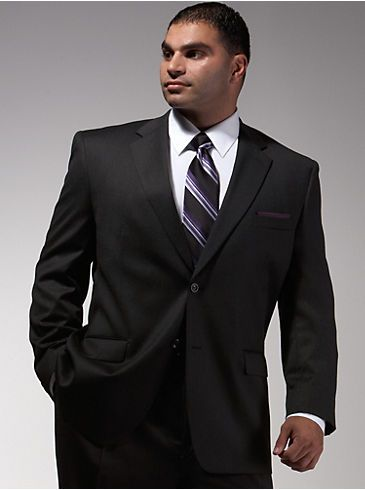 Suits Suit Separates Joseph Feiss Charcoal Portly Suit