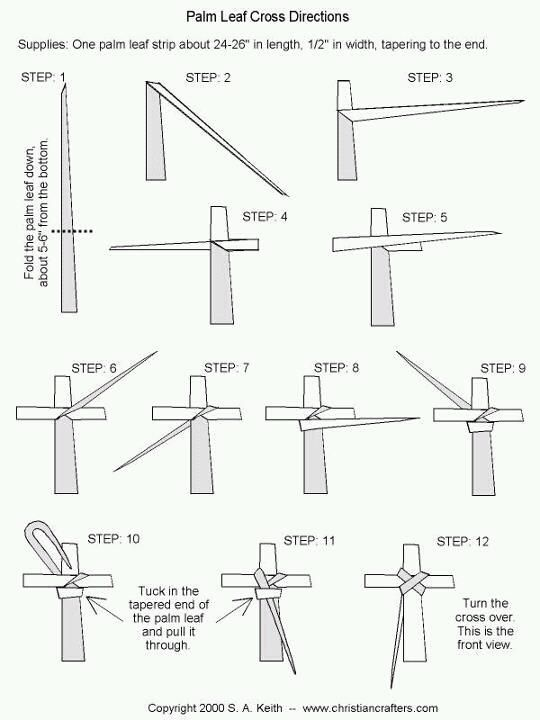 making a palm cross...   st. philips   Pinterest   Hojas de palma ...