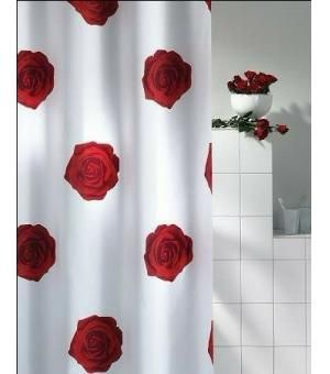Red Rose Curtain Lovly Style Red Rose Bathroom Shower Curtain