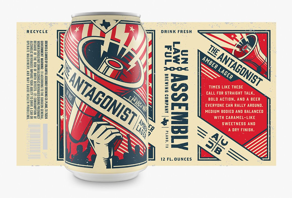 These Cans Are One Part Rock Roll And One Part Craft Beer Propaganda Craft Beer Design Beer Label Design Beer Packaging Design