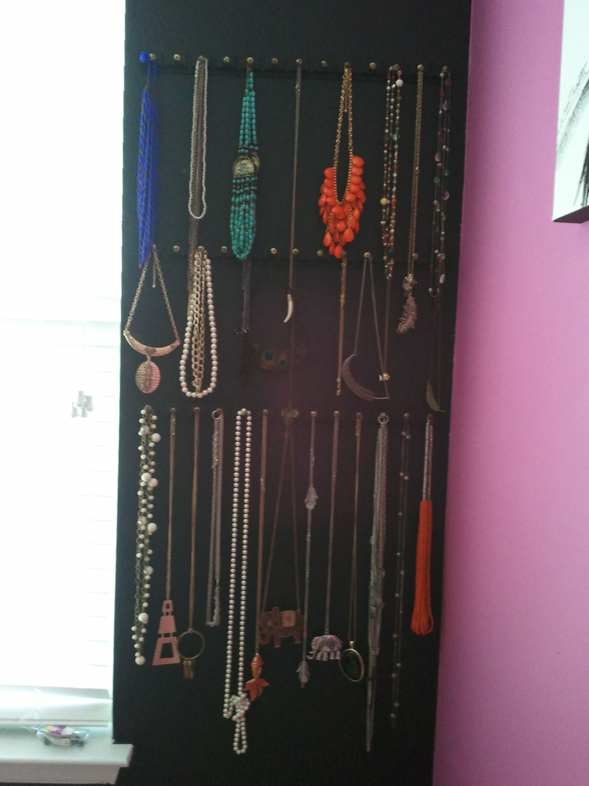 My Latest Diy Necklace Organizer
