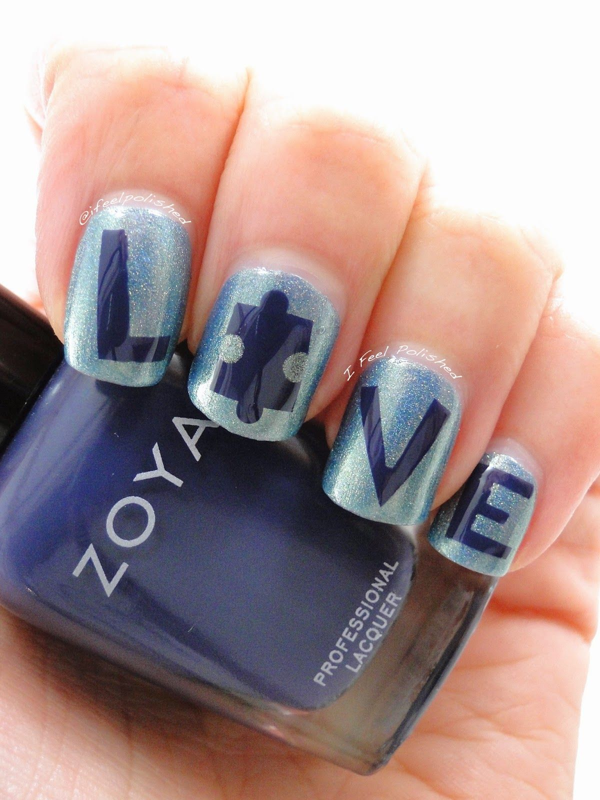 Autism Awareness Nails   Blue Nail Swatches & Autism Inspired Nail ...