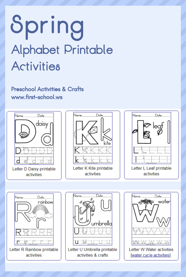 spring alphabet theme printable activities poster coloring pages and handwriting workshee. Black Bedroom Furniture Sets. Home Design Ideas