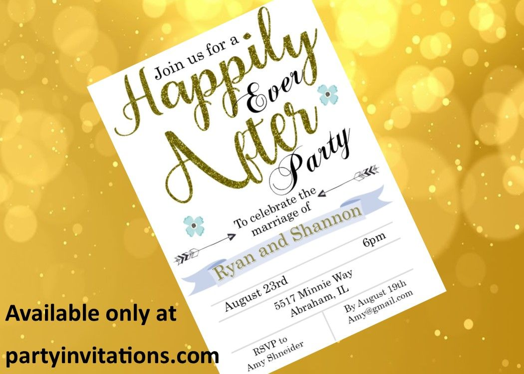 happily ever after reception only invitation. When you eloped or had ...