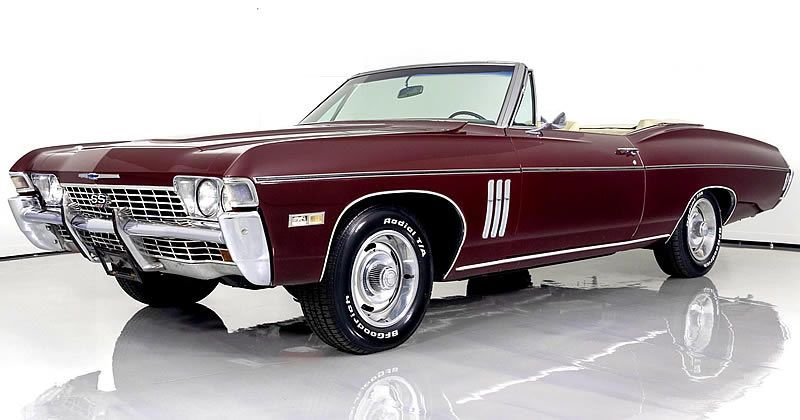 1968 Chevrolet Impala Convertible SS  427 V8 with Rare Air Conditioning