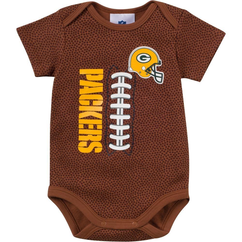 Baby Packers Fan Pigskin Onesie Green Bay Packers Baby Pinterest