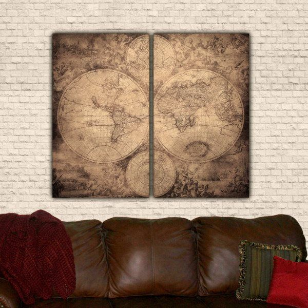 Huge world map art on canvas office walls wrapped canvas and huge world map art on canvas office walls wrapped canvas and canvases gumiabroncs Images
