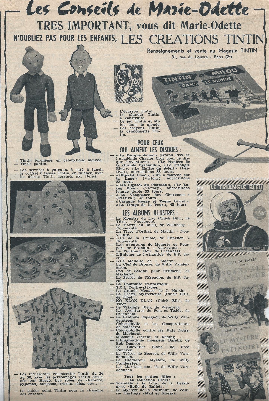 Papier Peint Tintin Et Milou les conseils de marie-odette ;o) une page publicitaire pour les