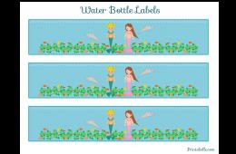 Free Printable Mermaid Water Bottle Labels Free Printable