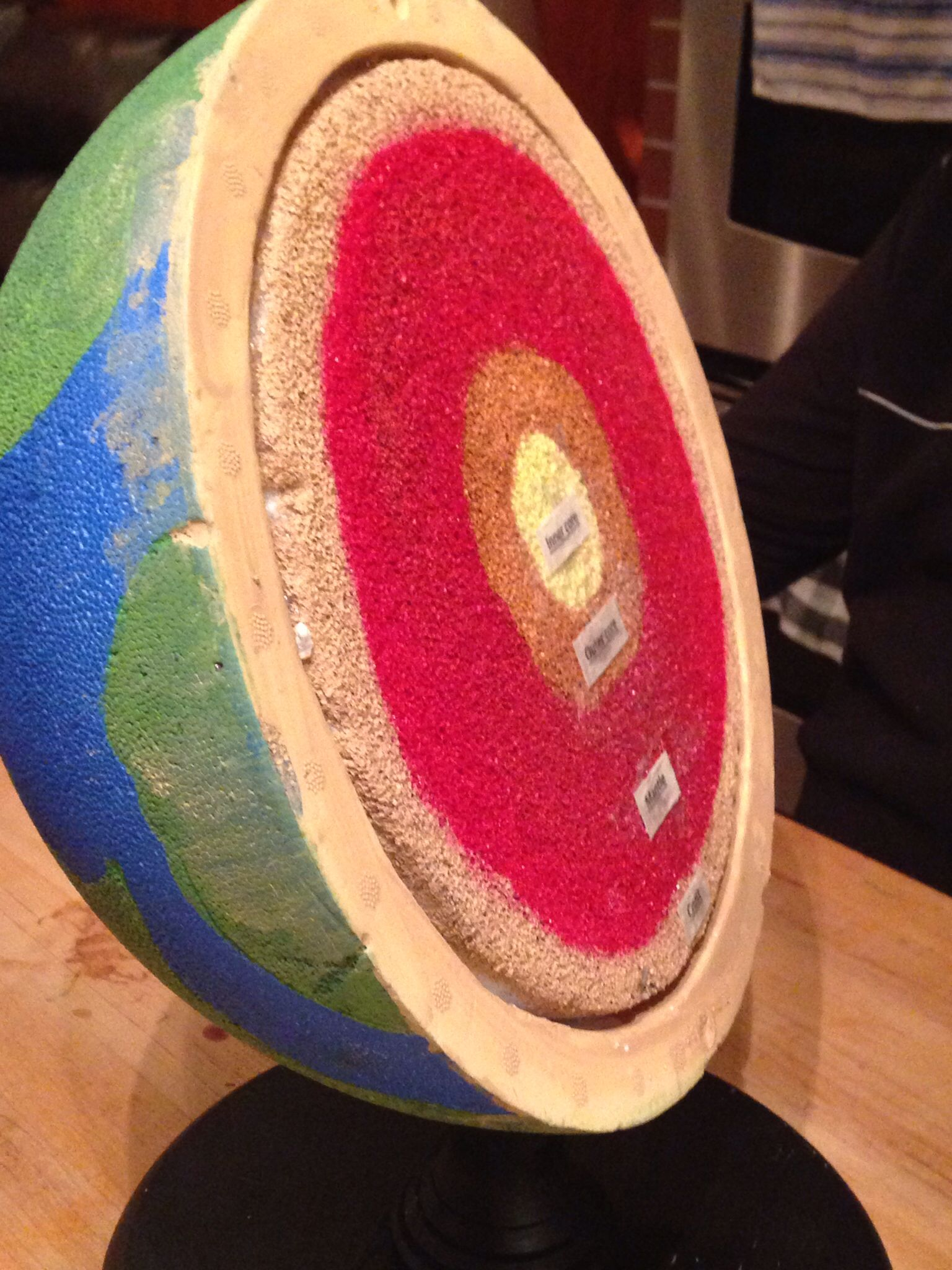 Science Project Of The Layers Of The Earth Made With