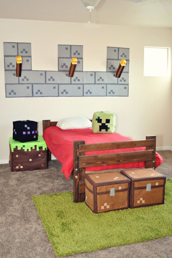 Minecraft bedroom decorations crafts cool room decor boys also kids furniture pinterest dormitorio rh co