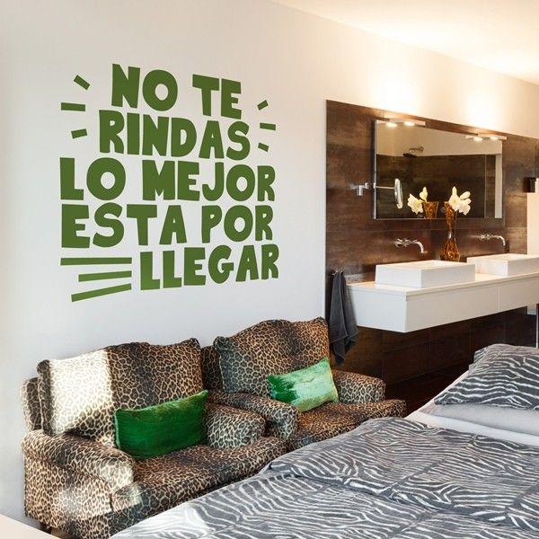Vinilos decorativos textos te026 frases de vida for Vinilos decorativos para oficinas